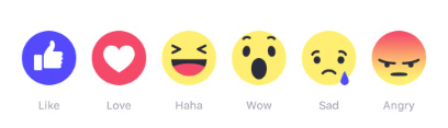 "Facebook's new ""Reactions"""